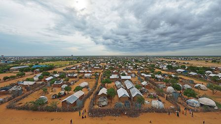 An overview of the part of the eastern sector of the IFO-2 camp in the sprawling Dadaab refugee camp