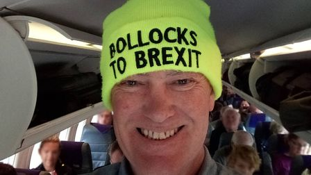 Derek said it was a 'ritual' of his to share selfies in his hat when he flew. Picture: Derek Knowles
