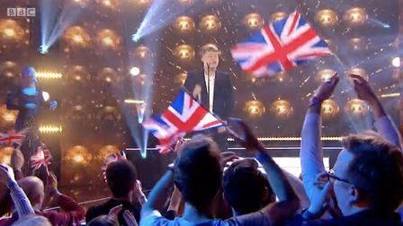 The BBC supplied the audience with Union Flags at this year's 'Eurovision: You Decide'. Photograph: