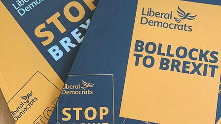 Lib Dems use 'Bollocks to Brexit' messaging. Photograph: Twitter.