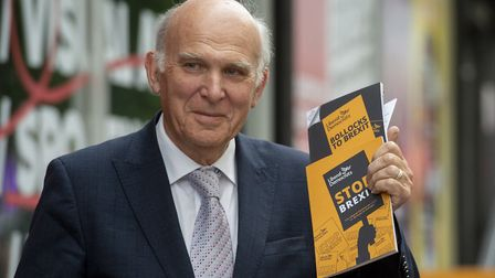 Vince Cable at the Rich Mix community arts club in Shoreditch, east London, ahead of announcing the
