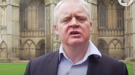 The Brexit Party's candidate in the Peterborough by-election in his campaign video. Picture: The Bre