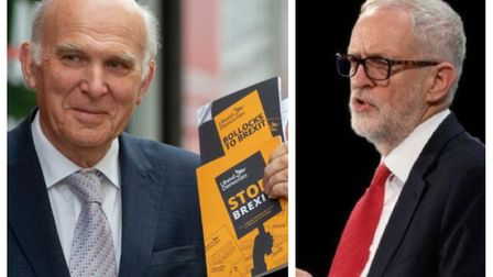 Vince Cable's Lib Dems are now one point ahead of Labour. Picture: David Mirzoeff/PA