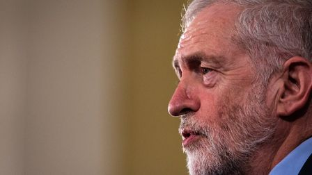 Labour Leader Jeremy Corbyn gives a speech at a rally. (Photo by Jack Taylor/Getty Images)