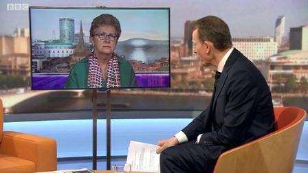 Vote Leave chair Gisela Stuart on the BBC Andrew Marr Show.