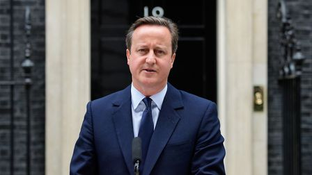David Cameron at 10 Downing Street before the EU referendum. (Photograph: LEON NEAL/AFP/Getty Images