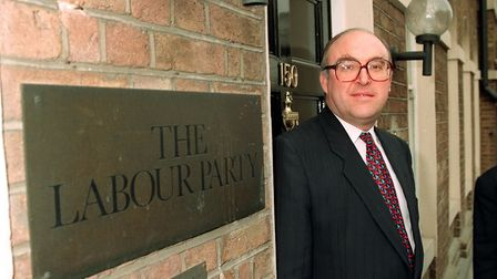 John Smith outside Labour Party headquaters. Photograph: PA.