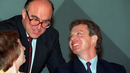 Shadow home secretary Tony Blair and Margaret Beckett, Deputy leader with labour leader John Smith a