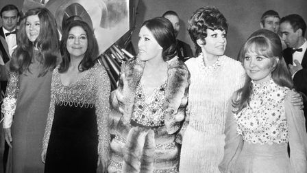The 1969 Eurovision Song Contest winners with Spain's 1968 victor Massiel. From left, Lenny Kuhr (Ne