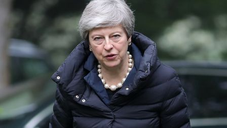 Prime Minister Theresa May. Photograph: Andrew Matthews/PA Wire.