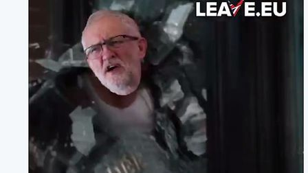 Leave.EU have tweeted a video portraying Brexiteers throwing Jeremy Corbyn through a window. Picture