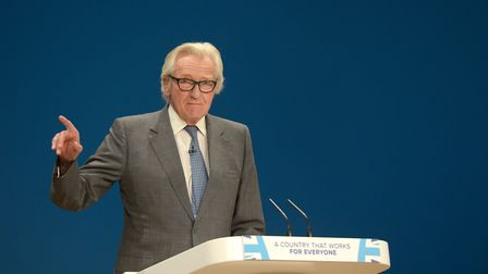 Lord Michael Heseltine speaks at Conservative party conference. Photograph: Ben Birchall/PA.