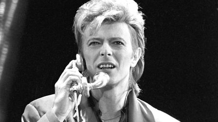 David Bowie during his concert in West Berlin in front of the Reichstag building on the 6th of June