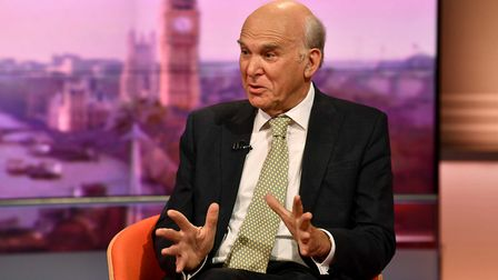Sir Vince Cable, leader of the Liberal Democrats, appearing on The Andrew Marr Show. Photograph: Jef
