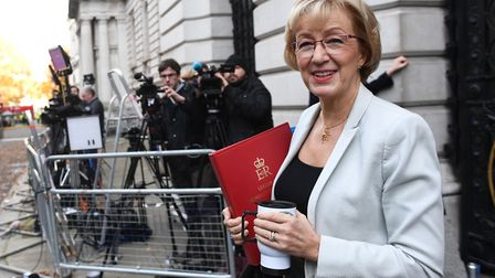 Andrea Leadsom arrives in Downing Street.