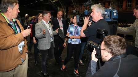 Tommy Robinson at the election count. Photograph: Peter Byrne/PA Wire.
