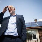 Labour leader Jeremy Corbyn during a visit to Salford. Photograph: Stefan Rousseau/PA Wire