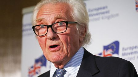 Michael Heseltine discusses the future of British politics during his speech at the Church House in