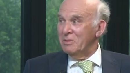 Vince Cable debated Nigel Farage in a Telegraph debate. Picture: YouTube/Telegraph