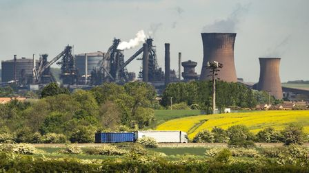 The steelworks plant in Scunthorpe as owner British Steel is to go into official recievership after