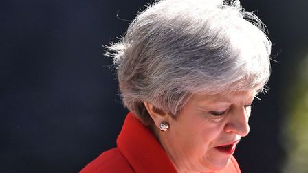 Prime Minister Theresa May making a statement outside at 10 Downing Street. Dominic Lipinski/PA Wire