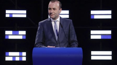 Manfred Weber said he won't work with parties that do not support the EU. Picture: AP Photo/Olivier