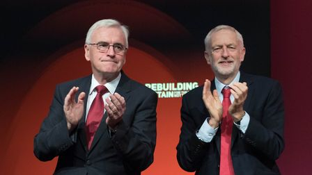 Labour leader Jeremy Corbyn (right) and Shadow Chancellor John McDonnell. Photograph: Stefan Roussea