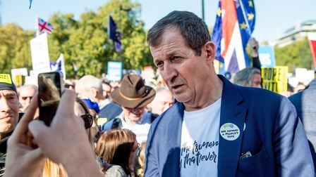 Alastair Campbell at the last People's Vote March back in October. Photograph: Ollie Millington/Rmv/