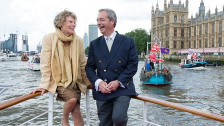 Kate Hoey campaigning for Brexit with Nigel Farage in 2016, prior to the referendum. Picture: Jeff S