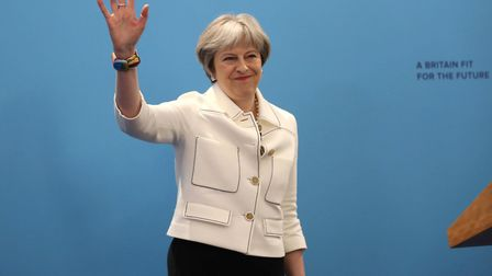 Theresa May at the Conservative Party's Spring Forum. (Photo by Simon Dawson - WPA Pool/Getty Images
