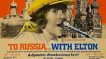 To Russia with Elton poster for the Russian tour in 1979. Picture: Archant