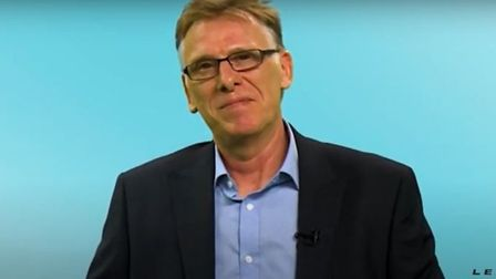 Former Brexit Party candidate Glenn Thompson appearing in a promotional video
