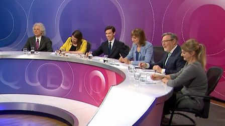 The BBC Question Time in Epsom. Photograph: BBC.