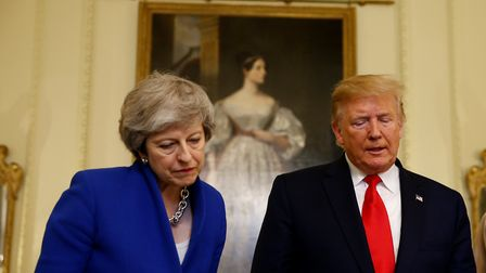 Prime Minister Theresa May with US President Donald Trump (Henry Nicholls/PA Wire)