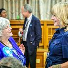 Brexit Party candidate Anne Widdecombe (left) and Rachel Johnson during the European Parliamentary