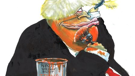 Michael White says Boris Johnson is learning from Brexit's Agent Orange. Image: Martin Rowson/@Marti