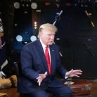 US President Donald Trump, pictured during an interviewe with Piers Morgan. Photo: Piers Morgan/Twitter