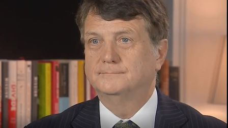 Gerard Batten in the Sky News interview. Photograph: Sky.