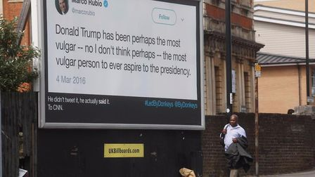 Led By Donkeys have put up new billboards in London timed for Trump's visit. Picture: Led By Donkeys