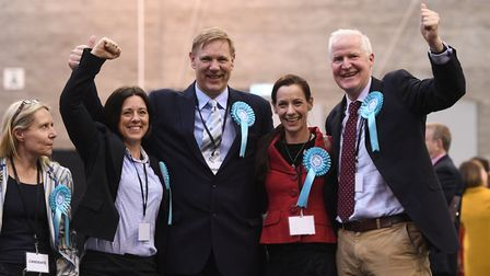 Brexit Party's Tracy Knowles, Anna Bailey, Jonathan Bullock, Annunziata Rees-Mogg and Matthew Patten