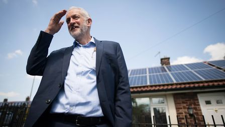 Labour leader Jeremy Corbyn and Emily Thornberry on the European elections campaign trail in Lambeth. Photograph: Stefan...