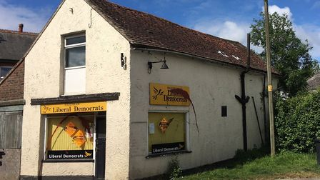 Liberal Democrat offices in Hailsham, East Sussex, were vandalised the day before the EU elections.