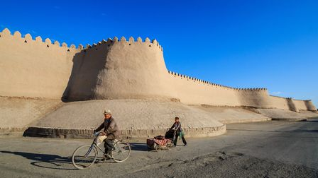 SILK ROAD: Watchtower of the Koukhna Ark in the city of Khiva, Uzbekistan. Photo: Getty Images