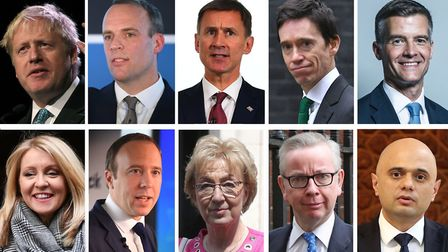 The initial contenders in the Conservative leadership race (top row, left to right) former Foreign Secretary Boris...