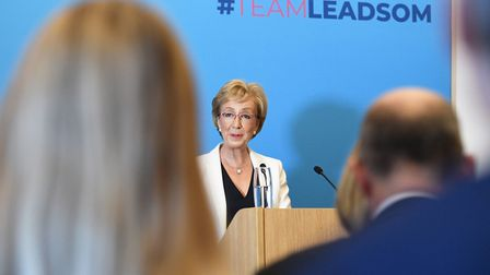 Andrea Leadsom launches her campaign to become leader of the Conservative and Unionist Party. Photog