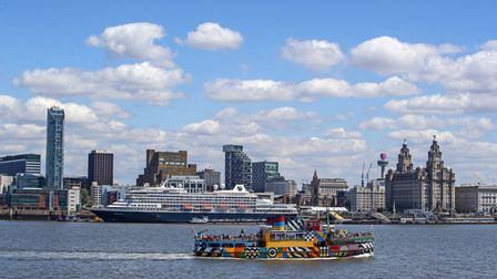 The Mersey Ferry on the River Mersey in front of the Liverpool skyline. Picture: Peter Byrne/PA Arch