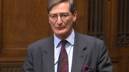 Dominic Grieve speaks out against no-deal Brexit. Photograph: Parliament TV.