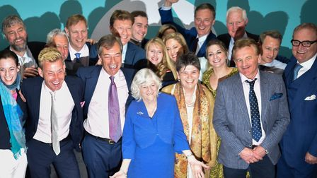 Claire Fox with fellow Brexit Party MEPs. Photo: Peter Summers/Getty