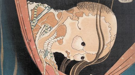 Katsushika Hokusai's 'Kohada Koheji' from 'One Hundred Ghost Tales', 1833. Picture: British Museum