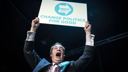 Brexit Party leader Nigel Farage. Photograph: Danny Lawson/PA.